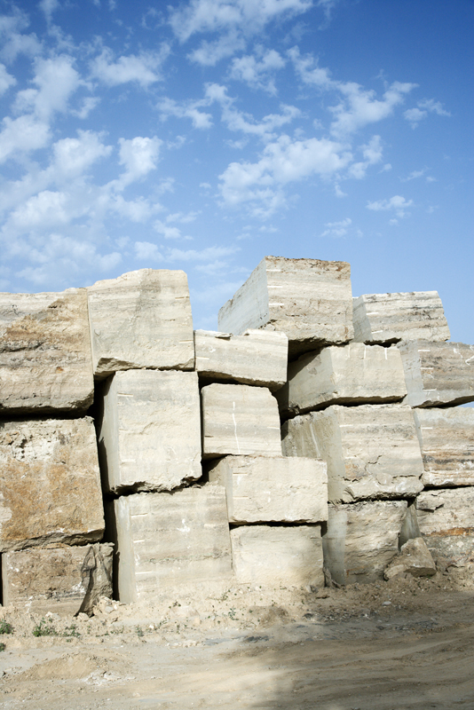 Stone blocks.
